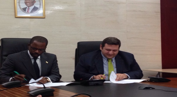 SIGNATURE OF A MEMORANDUM OF UNDERSTANDING BETWEEN THE MINISTRY OF MINES , INDUSTRY AND ENERGY AND KARADENIZ HOLDING.