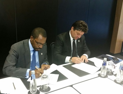 """Signature of a contract Joint Venture (""""JV"""") between SEGESA HOLDING SA and ASPI Group Equatorial Guinea"""