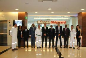 Visita del Astillero de Keppel Offshore and Marine por el Excmo. Sr. Ministro de Minas e Hidrocarburos.