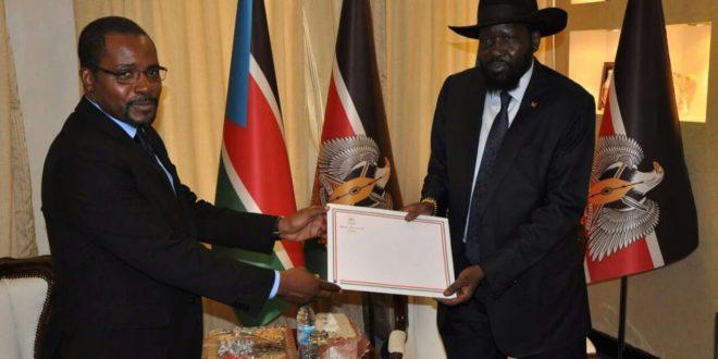 Encuentro del Ministro de Minas con el Presidente de Sudán del Sur